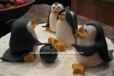 Homemade Penguins Cake