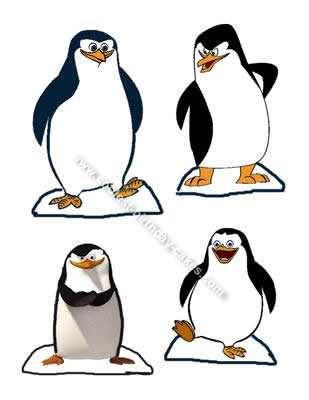 Homemade Penguins of Madagascar Cake