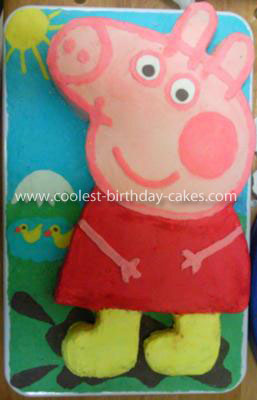 Coolest Peppa Pig 2nd Birthday Cake
