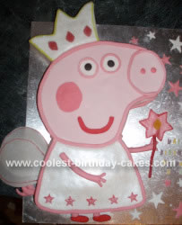 I Made This Peppa Pig Cake For My Daughters 3rd Birthday Because She Loves Drew A Template The And Traced Component Parts Onto