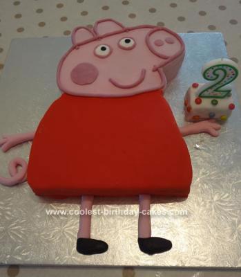 Homemade Peppa Pig Cake