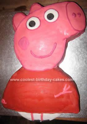 Homemade Peppa Pig Cake Design