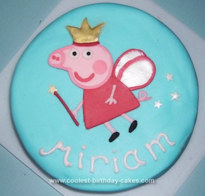 Homemade Peppa Pig Fairy Birthday Cake