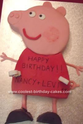 Homemade Peppa Pig Kids Birthday Cake