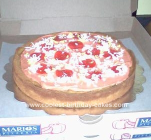 Homemade Pepperoni Pizza Birthday Cake Design