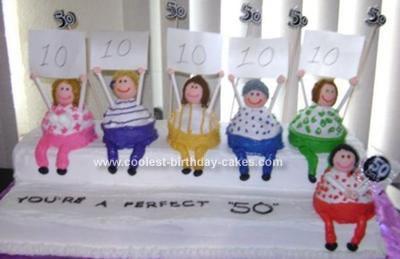 Homemade Perfect 50 Birthday Cake