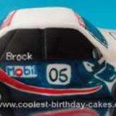 Homemade Peter Brock Racing Car Cake