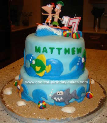 Homemade Phineas and Ferb Cake