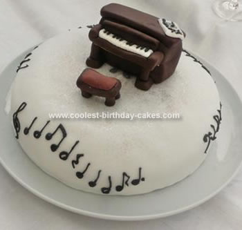 Homemade Piano Birthday Cake