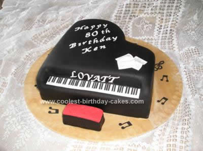 Homemade Piano Birthday Cake Design