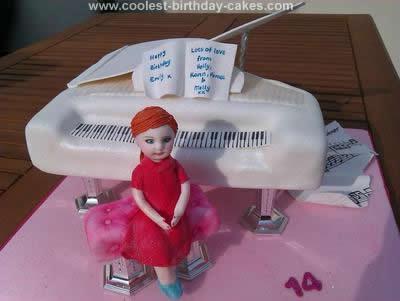 Homemade Piano Cake