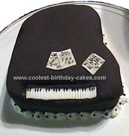 Homemade Piano Cake