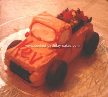 Homemade Pickup Truck Birthday Cake