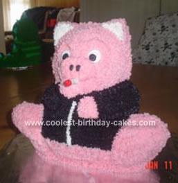 Homemade Pig Cake