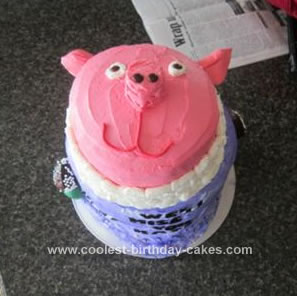 Homemade Pig Face Cake