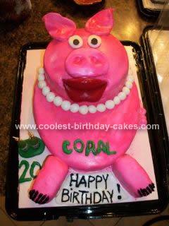 Homemade Pig Lovers Cake