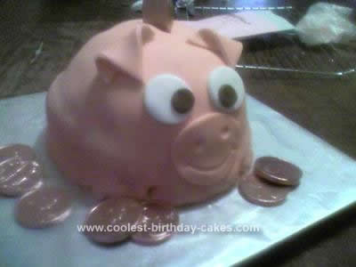 Homemade Piggy Bank Cake
