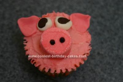 Homemade Piggy Cupcake