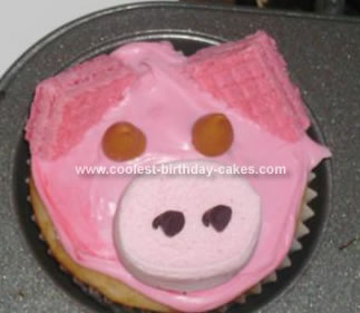 Homemade Piggy Cupcakes
