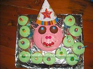 Homemade Piggy Piggy Cake