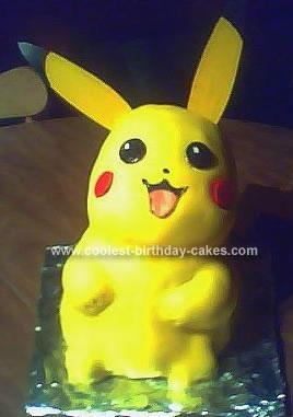 Homemade Pikachu Birthday Cake