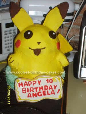 Homemade Pikachu Birthday Cake