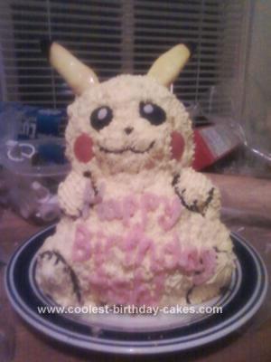 Homemade Pikachu Cake