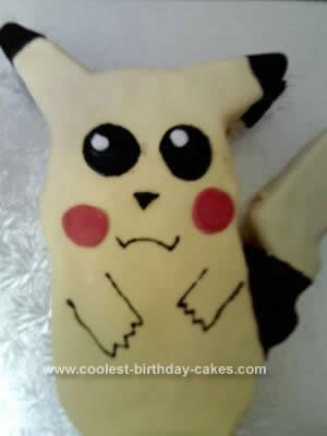 Homemade Pikachu Cake Design