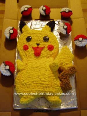 Homemade Pikachu Cake Design