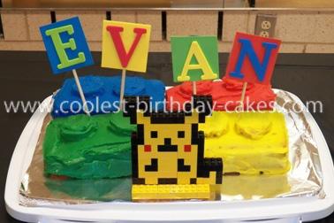 Homemade Pikachu Lego Cake