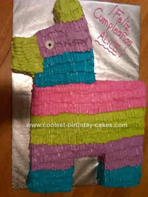Homemade Pinata Birthday Cake