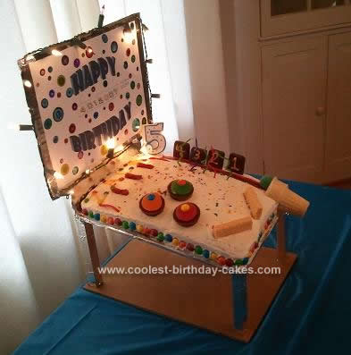 Homemade Pinball Machine Cake