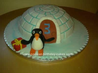 Homemade  Pingu Cake