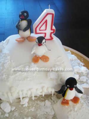 Homemade Pingu Cake Idea