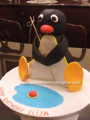 Homemade Pingu Cake Idea