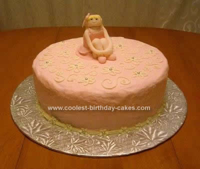 Homemade Pink Ballerina Cake