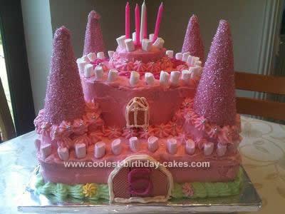 Enjoyable Coolest Pink Castle Birthday Cake Personalised Birthday Cards Petedlily Jamesorg