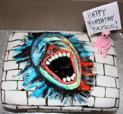 Homemade Pink Floyd The Wall Cake