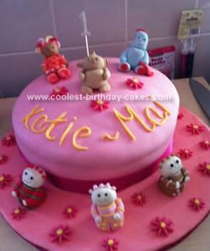 Homemade  Pink In the Night Garden 1st Birthday Cake