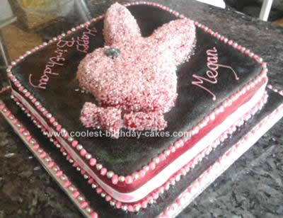 Homemade  Pink Playboy Cake Design