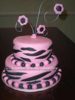 Admirable Coolest Pink Zebra Cake Personalised Birthday Cards Xaembasilily Jamesorg