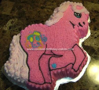 Homemade Pinkie Pie My Little Pony Cake