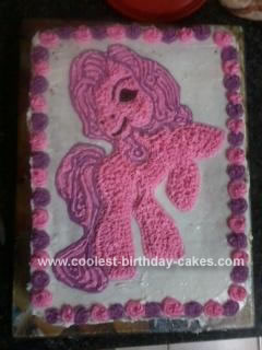 Homemade Pinkie Pie Pony Cake