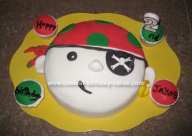 Homemade Pirate Birthday Cake