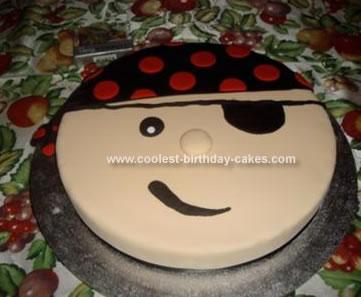 Homemade Pirate Birthday Cake