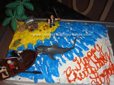The Pirate Birthday Cake Design Was For My Sons 10th We Went To Store Together And Picked A Box Flavor He Selected Main Icing