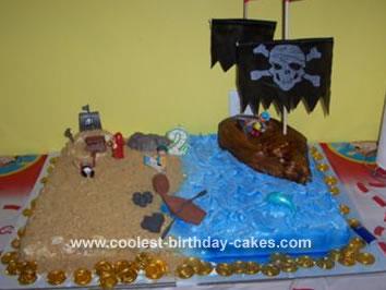 Pirate Island and Ship Cake