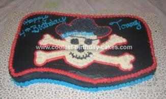 Homemade Pirate Flag Cake