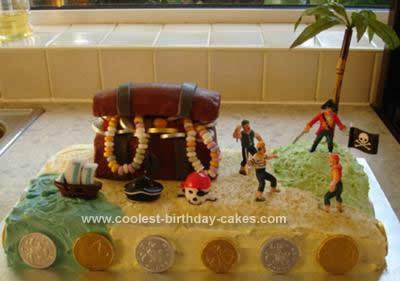 Homemade Pirate Island Birthday Cake