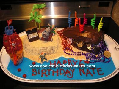 Pirate Island and Treasure Cake